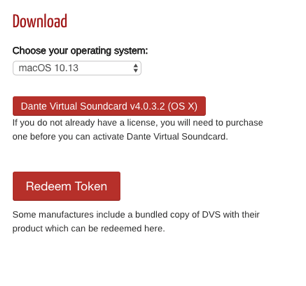 Installing and Activating Dante Virtual Soundcard (DVS